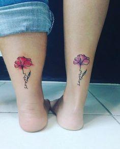 Flower Design: Sister Tattoos