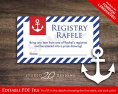 Instant Download Raffle Ticket Editable Pdf DIY by Studio20Designs