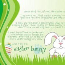 a gorgeous letter from the easter bunny freeprintables easter ishareprintables