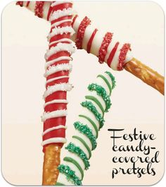 Love these candy-covered pretzels! From @Wilton Cake Decorating #wiltonchristmas