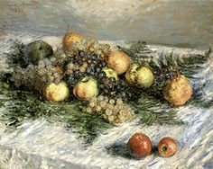 Claude Monet, Pears and Grapes Fine Art Reproduction Oil Painting