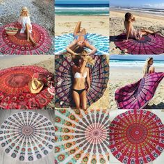 Indian Roundie Round Mandala Hippie Tapestry Beach Throw Towel Yoga Mat Bohemian #UnbrandedGeneric #ArtDecoStyle