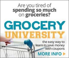 Save money at the grocery store and learn how to use coupons with Grocery University. Grocery University users can save up to on every grocery trip. Save Money On Groceries, Ways To Save Money, Frugal Family, Frugal Living, Money Saving Mom, Home Storage Solutions, Coupon Organization, Financial Organization, Organizing