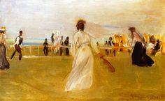 Tennis Game by the Sea by Max Liebermann - 1901
