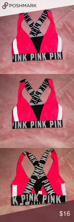 SALE💕 VS PINK CROSS BACK BRALETTE NWT Victoria's Secret pink x SMALL  bralette  cross back body brand-new with tags's ships fast shipps  today ❤️ NO TRADES PINK Victoria's Secret Intimates & Sleepwear Bras