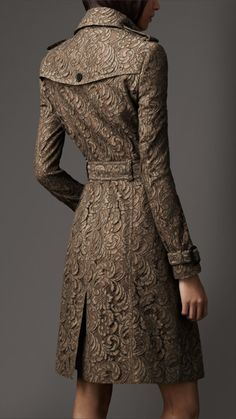 Gorgeous, Burberry Lace Trenchcoat! Um, who could afford it? But still gorgeous!