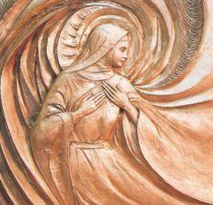 Santa Clara de Assis                                                                                                                                                                                 Mais Santa Clara, Francis Of Assisi, St Francis, Clare Of Assisi, St Clare's, Anime Fantasy, Christian Inspiration, Christianity, Street Art
