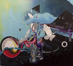 acryl and oil on canvas  100x100 cm