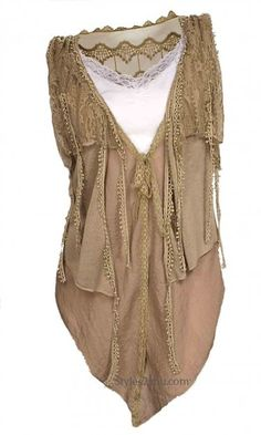 LOVE LOVE LOVE THIS...Pretty Angel Clothing Mabel Layered Vest In Carmel at Styles2you.com
