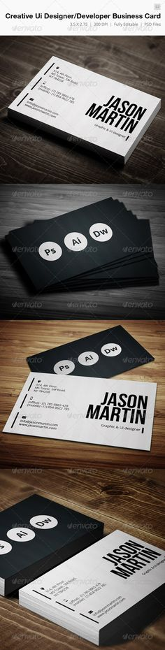 Creative DesignerDeveloper Business Card  02 — Photoshop PSD #developer #hot • Available here → https://graphicriver.net/item/creative-designerdeveloper-business-card-02/4225247?ref=pxcr