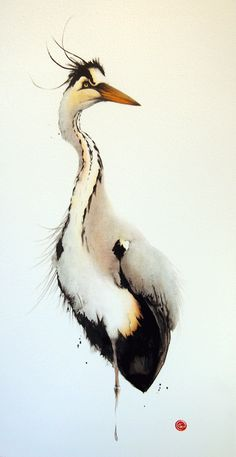 PORTRAIY | SKILL | MINIMAL | COLOURS | AQUA | FRESH | INSPIRATION | TRICK  #aquarell #art #bird