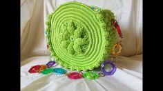 Crazy bag round- Crochet