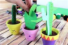 """Cactus en papier : Déco de la maison : """"Idées Créa"""" 10 DOIGTS : 10 Doigts"""