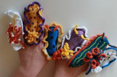 Toni Hartill Art: Crocheted Nudibranch