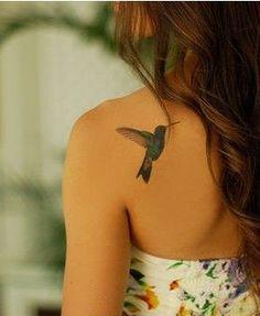 back tattoo for fashion girls.bird tattoo