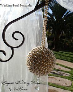 Ivory Pearl Wedding Pomanders | custom-made bridal brooch bouquets. Find custom wedding brooch bouquets perfect for any wedding vintage bridal brooch bouquets