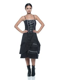 Amazon.com: Women's Steampunk Victorian Inspired Corset Style Chemise Bustle Petticoat Dress: Clothing