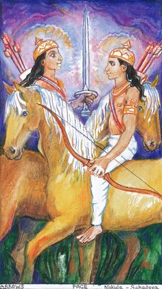 SACRED INDIA TAROT - Pages of Arrows