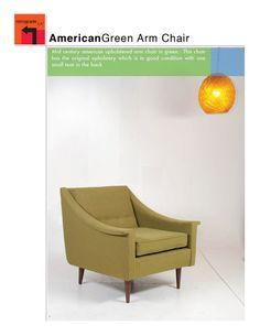 Mid Century Modern Green Arm Chair by MotleyLA on Etsy, $425.00