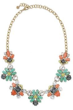 Chunky Stone Floral Statement Necklace   Elodie Necklace   Stylist Lounge : Stella & Dot