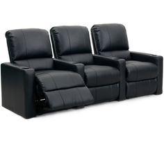 Octane Seating XS300 Series Charger Theater Seating with Manual Recline and Bonded Leather