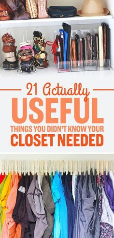 These 7 closet organizing hacks and tips are THE BEST! I'm so happy I found this AMAZING post! My closet space is a mess, but now I have some awesome ideas on how to make it look GREAT! Definitely pinning for later!