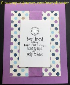KreatesKards Journey: Best Friend Card Using Fun Stampers Journey Products