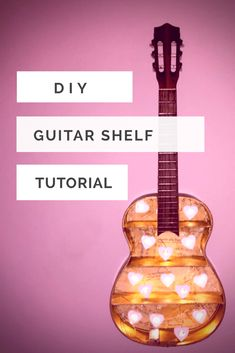 How to make this Awesome Guitar Shelf Tutorial Guitar Art Diy, Guitar Crafts, Diy Furniture Projects, Diy Wood Projects, Wood Furniture, Guitar Shelf, Guitar Display, Bible Activities For Kids, Man Cave Bar
