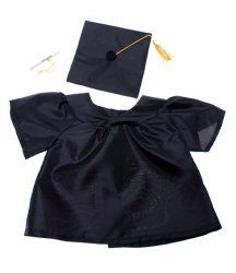 "Graduation Gown w/Hat and Scroll Outfit Teddy Bear Clothes Fits Most 14"" - 18"" Build-A-Bear, Vermont Teddy Bears, and Make Your Own Stuffed Animals"