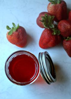This is an easy recipe for homemade strawberry syrup. Make a little, or a lot, and it will last for months in the fridge.