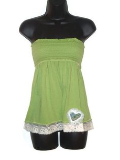 womens green tube top