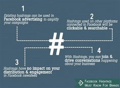 "Facebook Hashtags must know for brands // via #hshdsh at hshdsh.com... ""to find if a hashtag is trending, checkout sites like www.hashtags.org and www.hashtagify.me."""