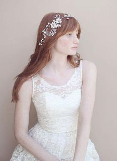 A headpiece can be a gorgeous alternative to a veil @myweddingdotcom