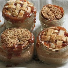 pie in a jar -- even better than cheesecake in a jar ***A good apple pie in a jar recipe, with label and tag***