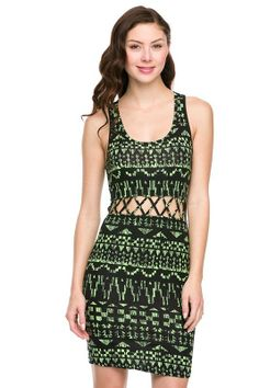Tribal Print Dress, $21.00 by Appealing Boutique