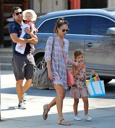 Jessica Alba and the whole family