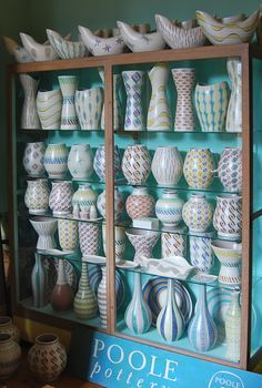Part of Johns amazing collection of 1950's Poole Pottery                                                                                                                                                                                 More
