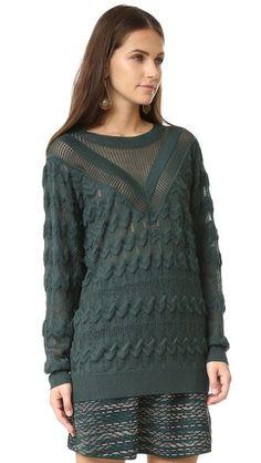 M Missoni Solid Knit Sweater
