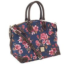 Dooney & Bourke Coated Cotton Cabbage Rose Satchel