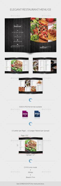 Restaurant Food Menu Food menu, Menu templates and Template - food menu template