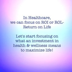 Healthcare needs more ROL, a benefit to each person, each patient. Quality of life & health are essential. #healthcare #hcldr #pinksocks