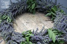 There's a reason you'll find this scent in bathroom soaps and dresser sachets — it's calming. Plus, a ring of dried lavender is simply beautiful. Get the tutorial at Designed on Sunshine »    - CountryLiving.com