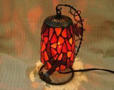 Swing Mosaic Lamp Lantern Interior by SleepingNightOwl on Etsy