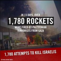 1,780 rockets from Gaza reign down on Israel. - July 2014 - and it's still raising