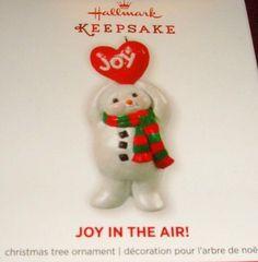 "2013 HALLMARK KEEPSAKE ""JOY IN THE AIR "" SNOWMAN SPECIAL PROMOTION ORNAMENT"