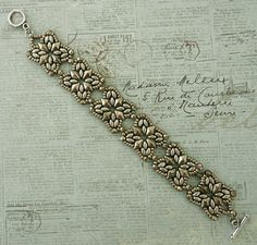 Linda's Crafty Inspirations: Bracelet of the Day: Roundabout - Pewter