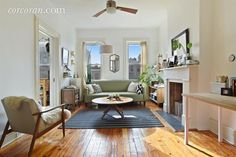 In Sunset Park, this lovely 20th century townhouse is going for $1.5 million. It's a two-family home with four bedrooms , two-and-a-half bathrooms, and tons of detail. Original hardwood floors, tin ceilings, a decorative fireplace, and backyard are just a few of the features that you get for your buck.