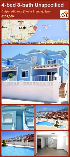 Townhouse for Sale in Calpe, Alicante (Costa Blanca), Spain with 4 bedrooms, 3 bathrooms - A Spanish Life Murcia, Calpe Alicante, Extractor Hood, Residential Complex, Built In Wardrobe, Private Garden, Seville, Malaga, Townhouse