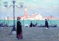 artishardgr:Clarence Gagnon - San Giorgio: View of the Mole 1906