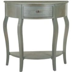 Foyer, bedroom @Overstock - Chic and compact the Sete one drawer antiqued grey console table is the perfect piece for any space. It features gently curved legs and an extra bottom shelf for extra storage.http://www.overstock.com/Home-Garden/Sete-1-drawer-Antiqued-Grey-Console-Table/6605269/product.html?CID=214117 $185.99